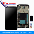 100 Tested Original LCD Display Touch Screen Digitizer Assembly Frame For LG G2 D802 D805 D800