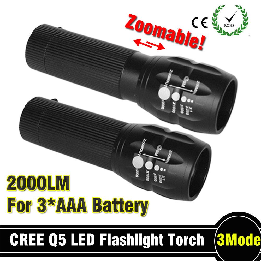 92% off Powerful flashlight Lanterna led Torch 2000 lumen Zoomable mini LED Flashlight tatica light lantern bike light(China (Mainland))