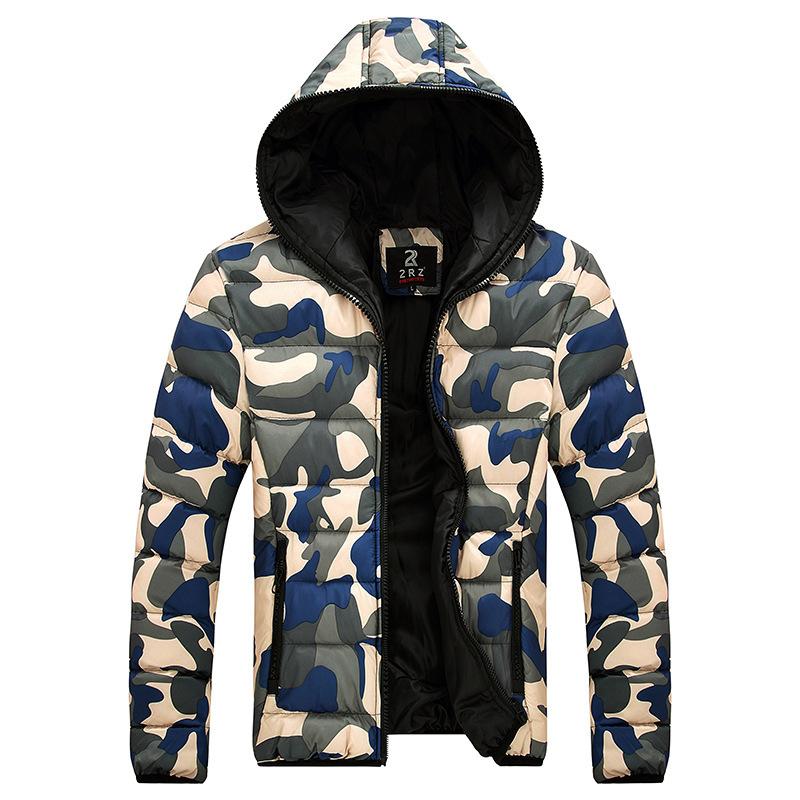2015 Lovers Winter Jacket Men Women Cotton Coat Mens Wild Camouflage Down Jacket Military Warm Jackets Camo Snow Casual Coats(China (Mainland))
