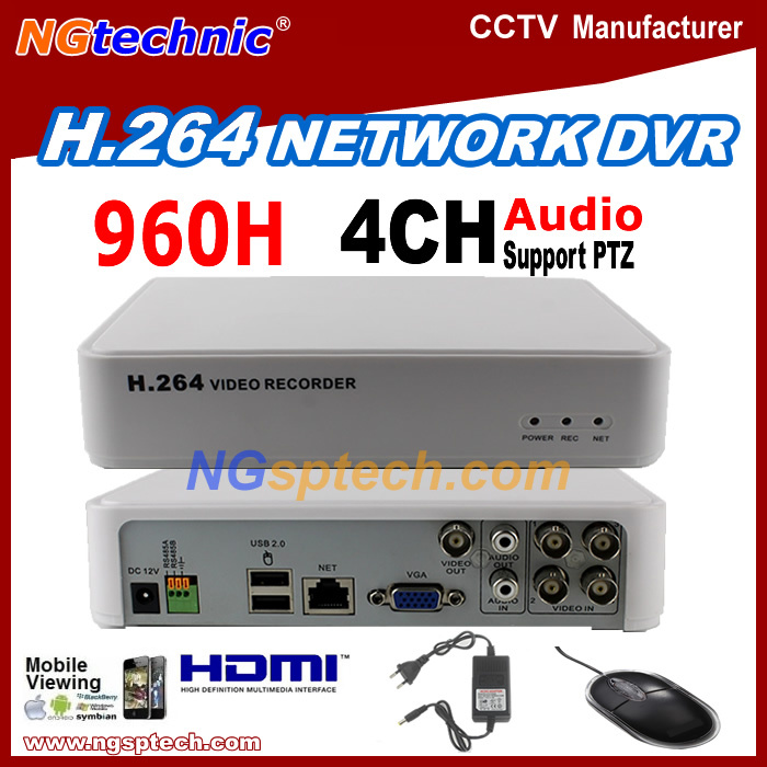 New arrival 4CH Full D1(704*576)DVR H.264 Plug play Remote View via Internet free setting Motion detector free shipping CCTV DVR(China (Mainland))