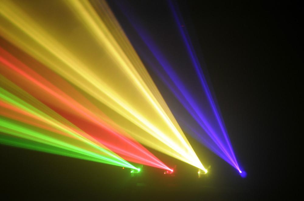 Купить Aobo освещение 4 объектива RGYP лазерный луч для диско DJ Pro ну вечеринку клубной сцене лазер луча DMX лазерный проектор