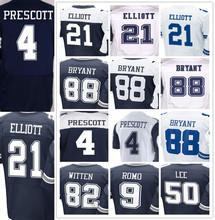 100% stitched Men's #4 Dak #21 Ezekiel #9 Tony #50 Sean #82 Jason #88 Dez jersey(China (Mainland))