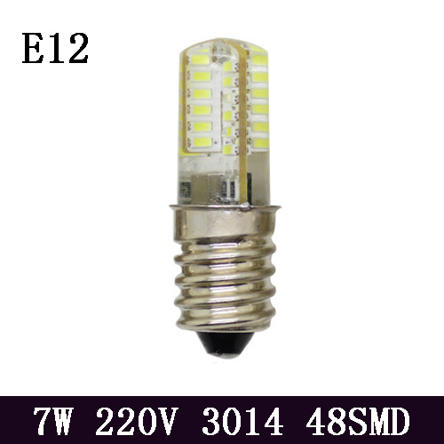 10PCS E12 Led Candle Light Bulb AC 220V 48pcs High Brightness 3014 SMD 360 Degree Warm White Cold White 7W LED E12(China (Mainland))