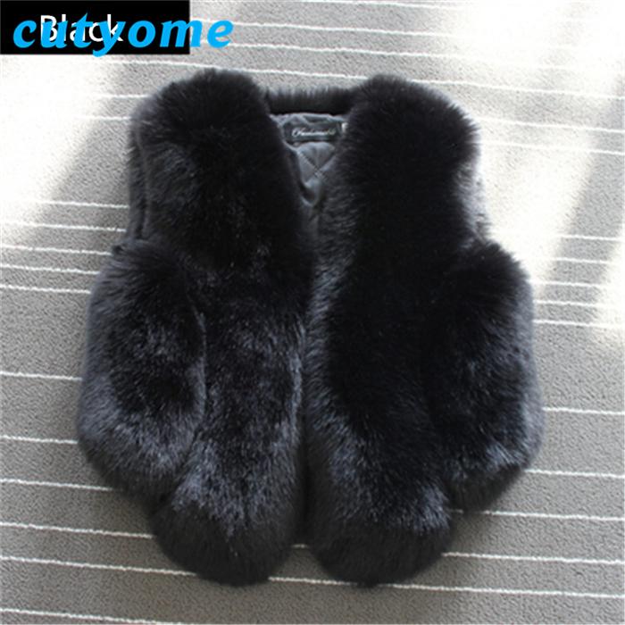 Baby Girls Faxu Fur Jacket Fashion Children Black Sleeveless Black Bolero Cardigan Waistcoat 2017 Winter Toddler Kids Vest Coat