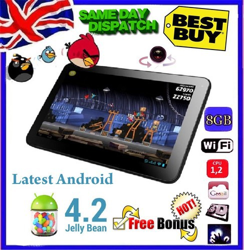 "Free shipping gift android tablet pc 9"" inch Google LATEST ANDROID 4.2 Dual camera Allwinner A13 Tablet PC 8GB Wi-Fi(China (Mainland))"