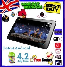"Freeship gift android tablet pc 9"" inch Google LATEST ANDROID 4.2 Dual camera  Allwinner A13 Tablet PC 8GB Wi-Fi(China (Mainland))"