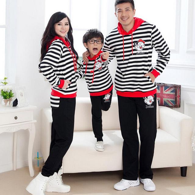 2016 семья установить одежду новых осенью активные толстовки семьи соответствующие ...