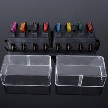 Buy New 158x52x42 mm Car Boat 8 Way Circuit Automotive Standard Blade Fuse Box Holder 12/24V Fuses Black Electrical EL Products for $11.17 in AliExpress store
