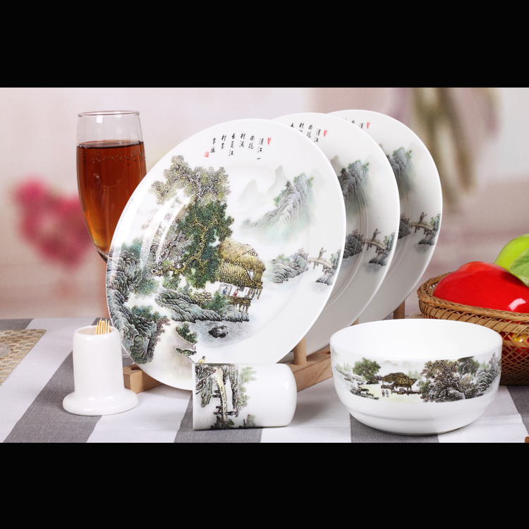Grade Jingdezhen Handpainted In-glaze Ceramic Hello Kitty Dinnerware Sets on Sale()