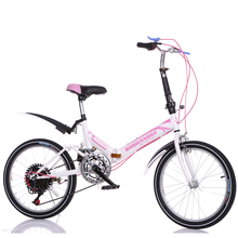 Boys and girls folding bike 20-inch damping variable speed bicycle High carbon steel bike Shock absorption bicycle Student bike(China (Mainland))