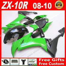 Buy Hot sale Fairings fit motorcycle Kawasaki Ninja ZX-10R 08 09 10 new green black ZX10R 2008 2009 2010 ZX10R fairing kits AS04 for $347.76 in AliExpress store