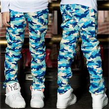 New 2014 Spring Autumn camouflage pattern Children Pants baby Boys Casual Trousers Fashion Kids Pants 665#(China (Mainland))