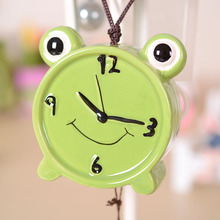 Creative Alarm Clock Pottery Wind Chimes Fun With Greeting Card Ornaments Lovers Birthday Gift CR