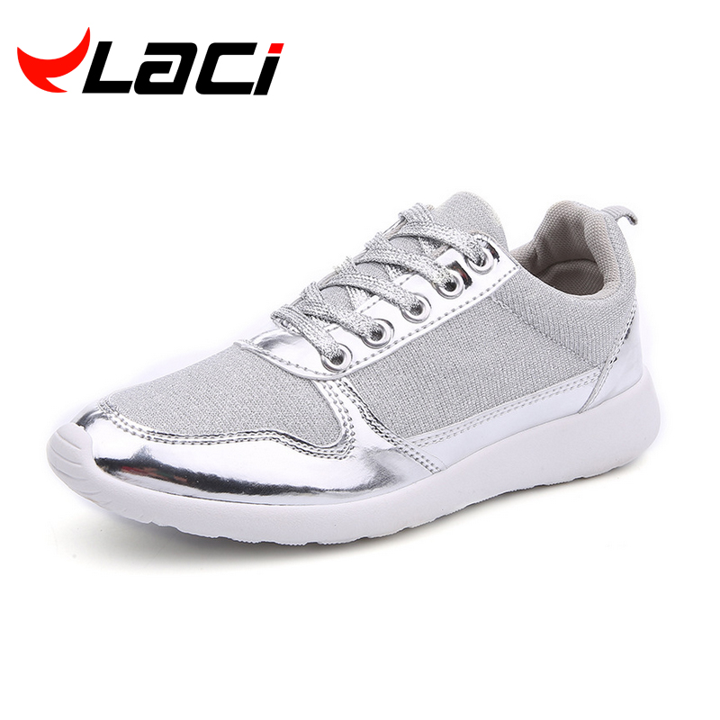 Size 36-41 brand New Chaussure Femme rubber 2016 Women casual shoes Gold Silver mesh woman breathable fashion sport summer shoes(China (Mainland))