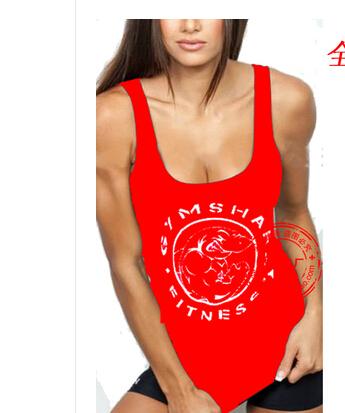 Brand GYM cotton gymshark sleeveless shirts tank top girls Fitness shirt Women singlet sport Bodybuilding Plus size gym vest(China (Mainland))