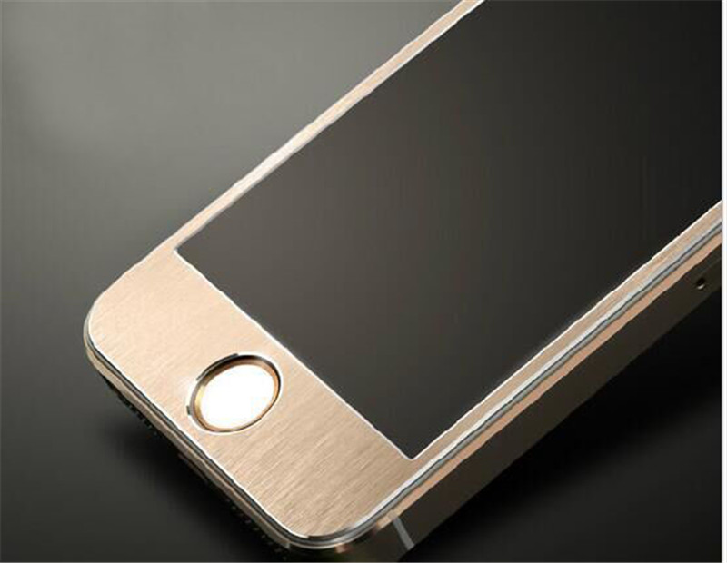 Full Cover Alloy Titanium Tempered Glass Film For font b Apple b font iPhone 5 5S