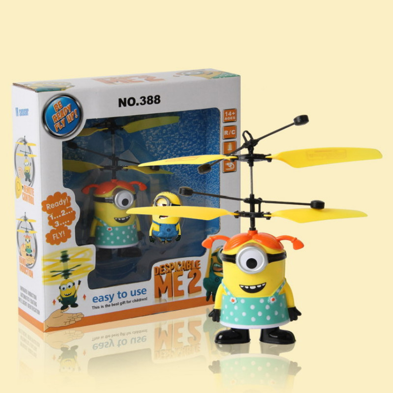 Remote Control Toys Battery Operated Flying Electronic Machine Toys Despicable Me Minions Yellow Flyting Machine Free Shipping<br><br>Aliexpress