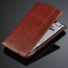 Leather Flip Cover with Card Slots for LG G4