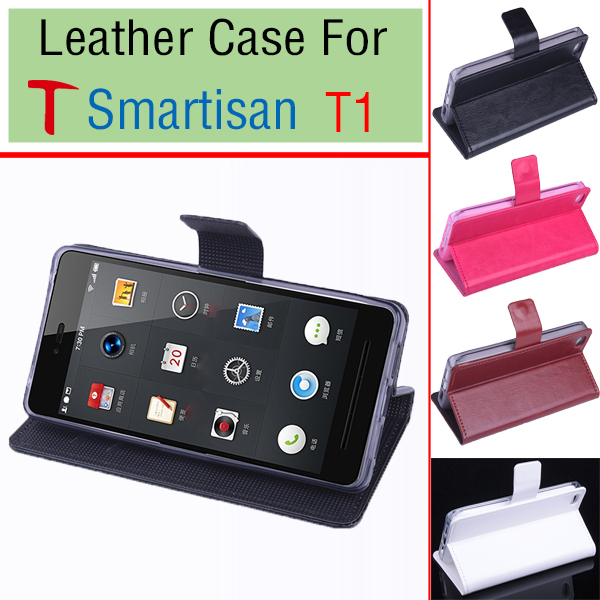free shipping Smartisan T1 case cover With Wallet , Good Quality Leather Case + hard Back cover For Smartisan T1 cellphone
