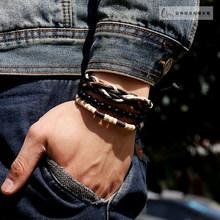 Fashion font b Men b font couple Bracelet font b accessories b font cord beads bracelet