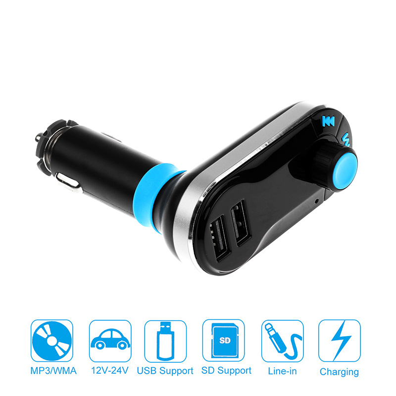 Dual USB Car Wireless FM Transmitter Mp3 Player Car Charger FM Modulator With Remote control(China (Mainland))