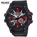 READ Top new 90001 Men Sport Military Quartz Watches Round 55mm Dial Large Digital Scale Analog