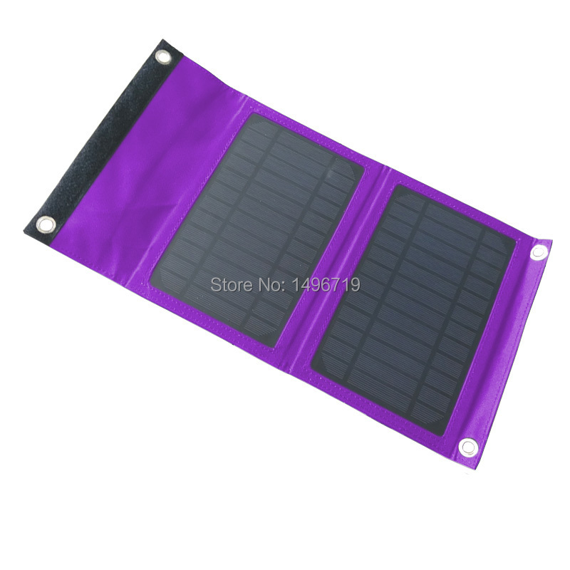 7W 5V Portable Solar Charger Outdoor Folding Solar Charger Bag Solar Panel Charger For Mobilephone Power Bank MP3/4 iPhone iPad(China (Mainland))
