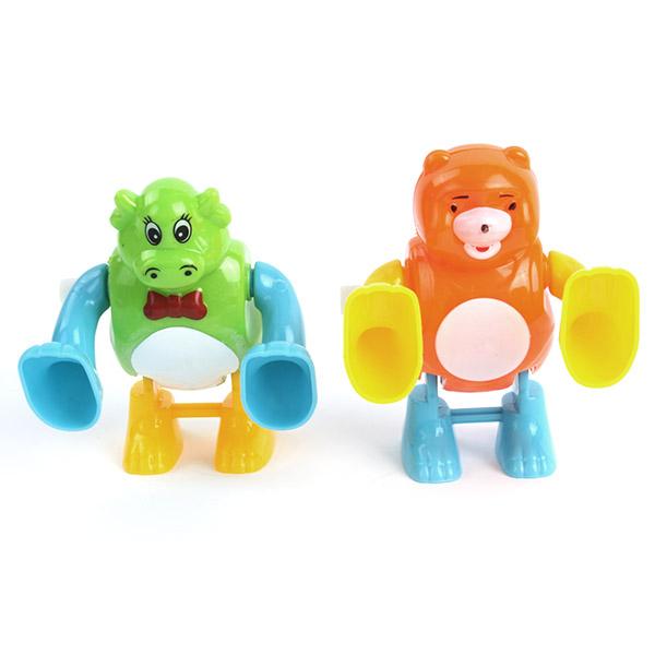 Fun Plastic Wind Up Toys Tumbling Somersault Cartoon Clockwork Gifts Kids BabyToy(China (Mainland))