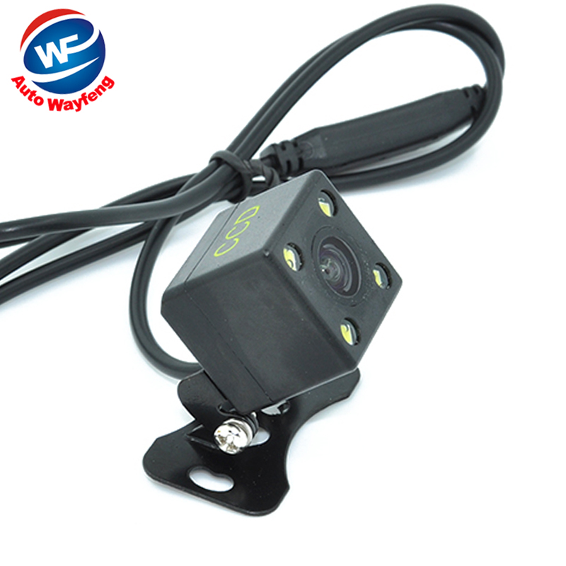 Free Shipping,Waterproof 4 LED Night Vision Car CCD Rear View Camera Parking Assistance Camera For Android DVD Monitor(China (Mainland))
