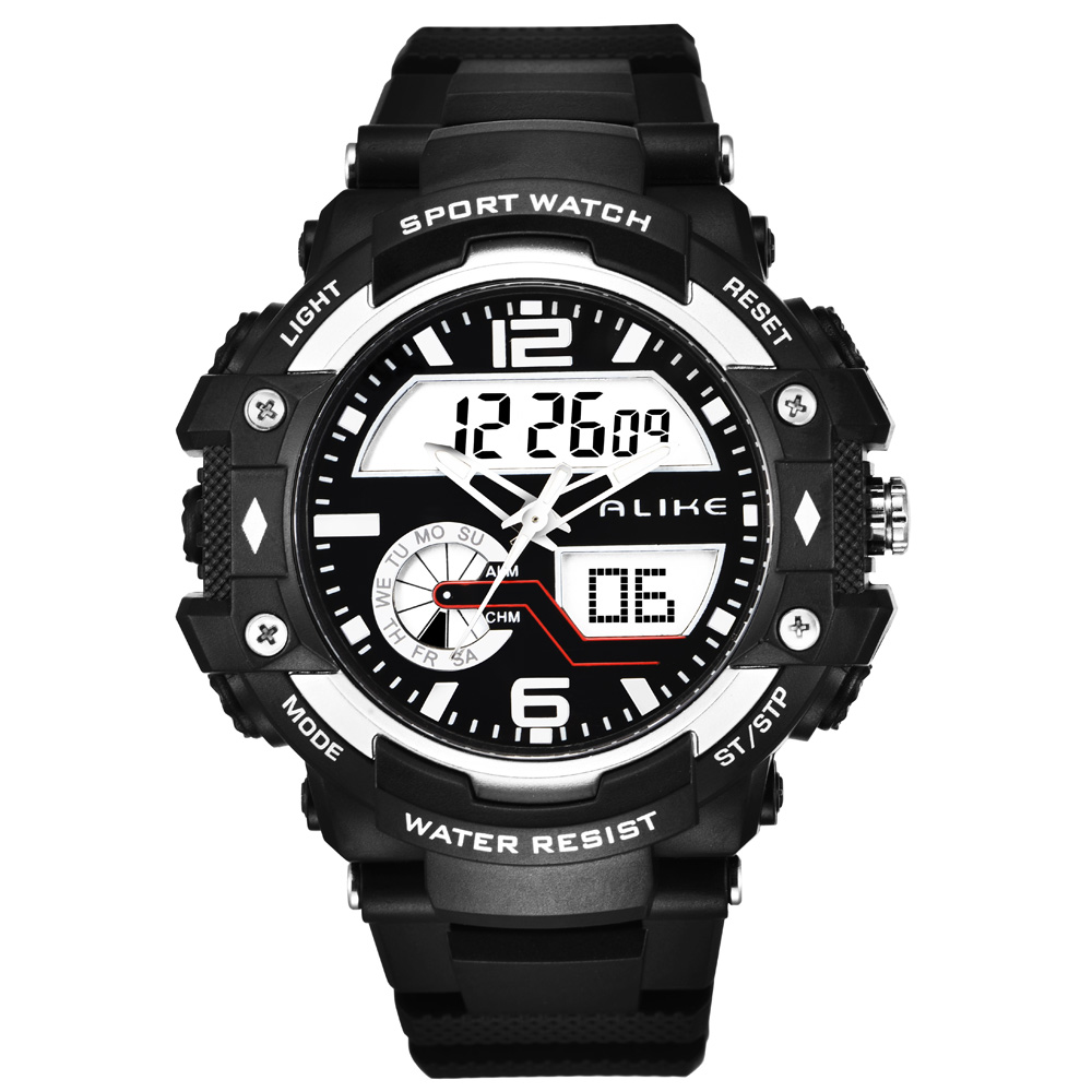 Alike Fashion Brand Sports Brand Watch Men Digital Shock Resistant Quartz Alarm Wristwatches Outdoor Military LED Casual Watches(China (Mainland))