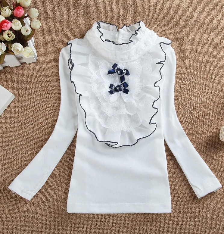AutumnGirls new arrival my little pony princess long-sleeve basic shirts Fashion baby Girls lace Bottoming Tops Tees Clothing(China (Mainland))
