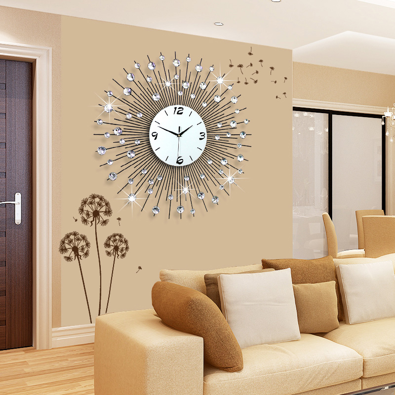 Buy long large decorative wall clock trendy fresh farm for Modern living room clocks