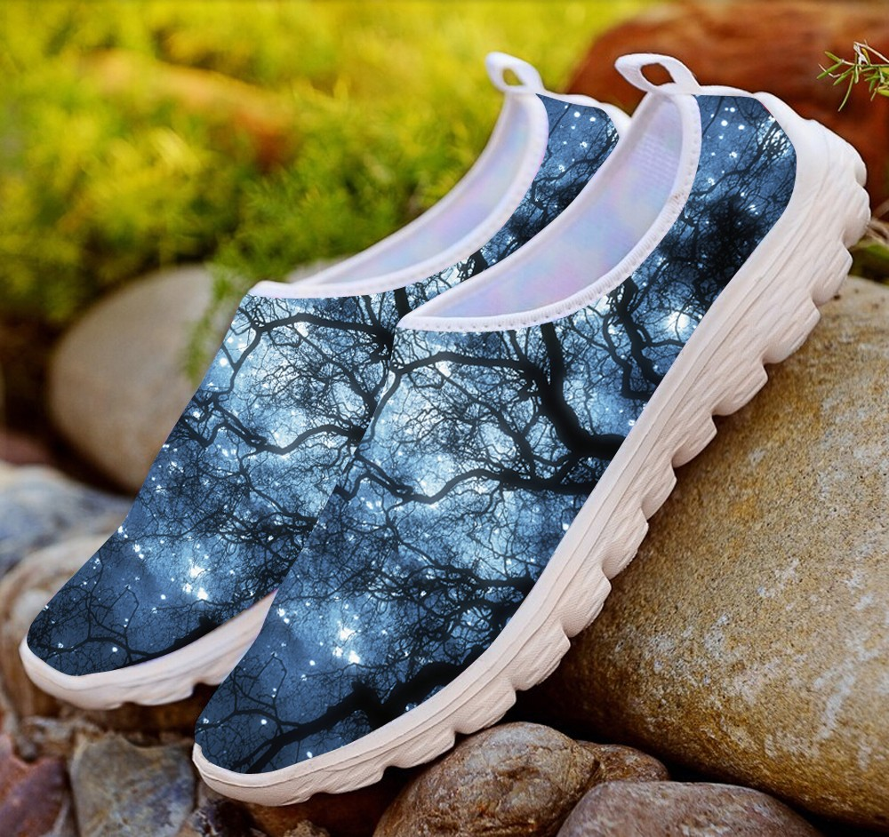 Cute Black Cat Design Women Shoes Breathable Casual Flats Mesh Shoes Walking Light Summer Water Beach Shoes Women Slip On Shoe