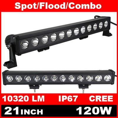 21 Inch 120W Cree LED Light Bar for Off Road Indicators Work Driving Offroad Boat Car Truck 4x4 SUV ATV Fog Spot Flood 12V 24V(China (Mainland))