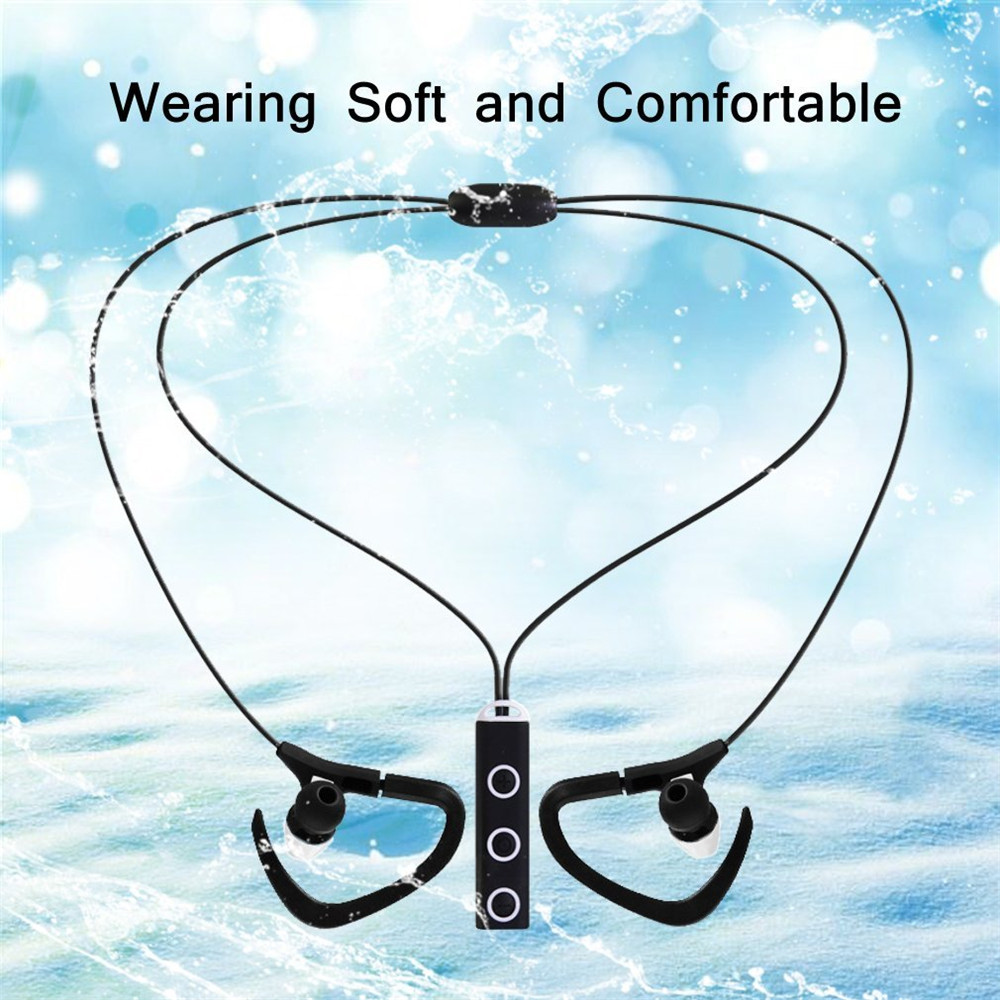 10pcs/lot Mix Colors Sports Wireless Bluetooth Headphones Necklace Headsets Sweatproof Earbuds Running Gym Earphone with Mic(China (Mainland))