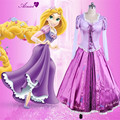 Adult Rapunzel cosplay costume Halloween princess Tangled Sofia Top and Skirt Carnival Evening party girl dress