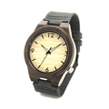 BOBO BIRD B11 Men s Black Sandalwood Watch Luminous Hand Black Leather Wood Wristwatch montre homme