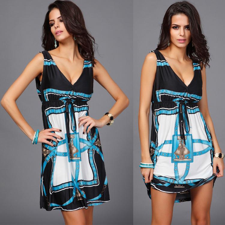 2015 name brand short sexy v nexk designs customized arabic evening latest casual wear fashion for women summer dresses(China (Mainland))