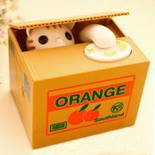 Cute Automatic Stole Coin Piggy Bank Panda White Cat Money Box 15*12.5*12.6cm Money Saving Box Moneybox Gifts For Kids(China (Mainland))
