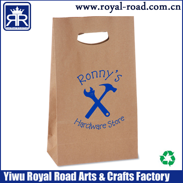 FREE DHL SHIPPING,Yiwu manufacturer custom cheap price and good quality Brown Paper Bag With Recycled Paper/retail paper bag(China (Mainland))