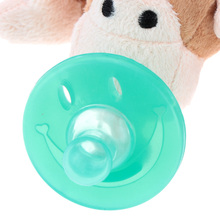 Cartoon Cute Plush Animal Infant Baby Pacifiers Silicone Kids Feeding Tool Baby Nipples Practical  Baby Accessory(China (Mainland))