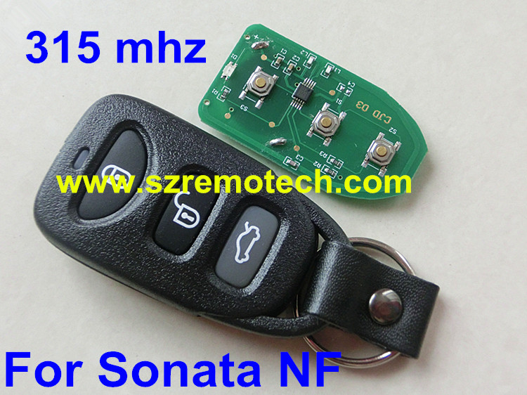 Free shipping Replacement New Remote Key 3 Button 315MHz Fit For Hyundai Elantra Sonata(China (Mainland))