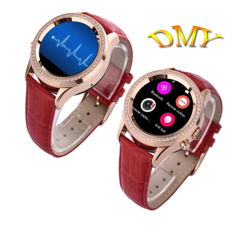 Bluetooth women diamond smart watch no 1 d2 for iphone and android