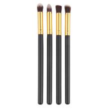 4pcs/set Professional Eye brushes set eyeshadow Foundation Mascara Blending Pencil brush Makeup brushes tool Cosmetic Black(China (Mainland))