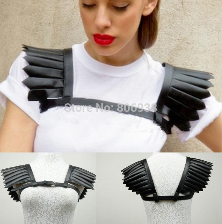 Sexy Black Halter Women Costumes Adjusted 2015 New Fashion PU Cage Vest Leather Bondage Harness Body Cage Bondag GarterОдежда и ак�е��уары<br><br><br>Aliexpress