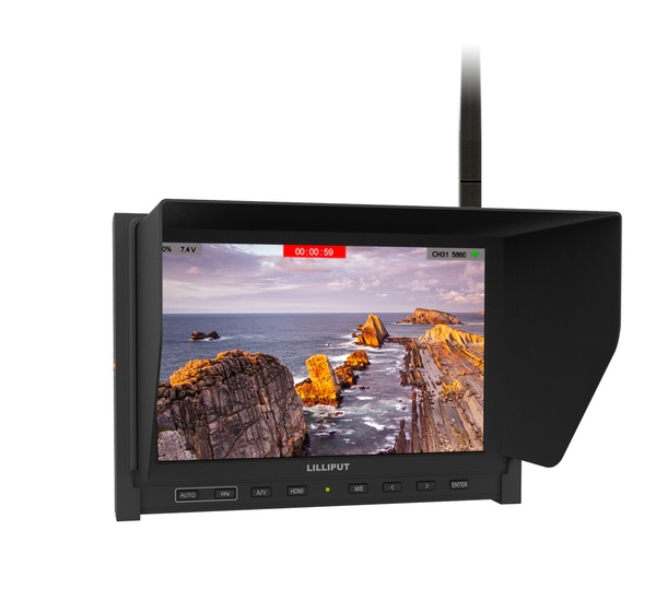 Lilliput 339/DW Fatshark 5.8G Receiver Dual Antennas 7 Inch HD Wireless Black Pearl FPV Monitor Built-in Battery<br><br>Aliexpress