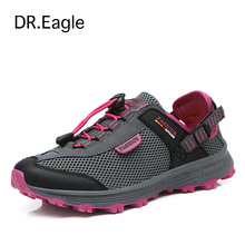Buy DR.EAGLE women's hiking boots breathable mesh sports mountain climbing trekking women hiking shoes woman sneakers free for $25.99 in AliExpress store