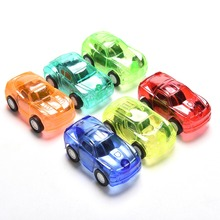 1Pc Mini transparent Pull Back Car Candy Color Plastic Cute Toy Cars For Child Hot Wheels Mini Car Model Kids Toys For Boys(China (Mainland))