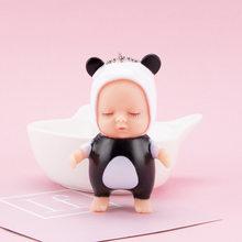 Moda bonito do Sono Do Bebê Boneca Chaveiro Kawaii Abelha Coelho panda urso forma Dos Desenhos Animados Car Chaveiro BagCharm jóia do brinquedo para a menina(China)