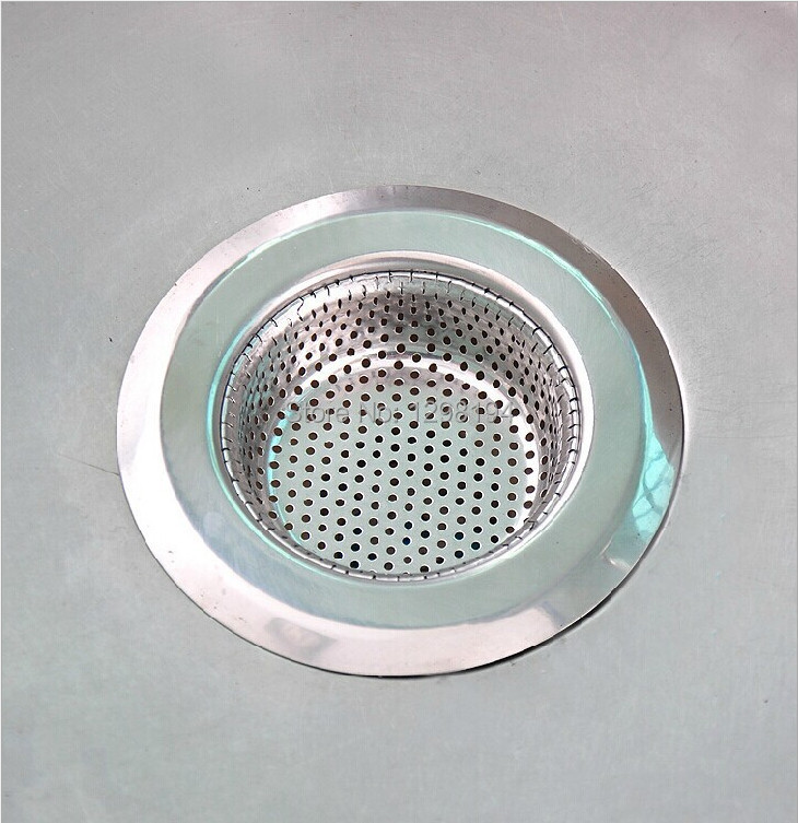 Kitchen Stainless Steel Sink Strainer Waste Disposer Plug Drain Stopper Filter 3(S M L) size optional + Free shipping(China (Mainland))